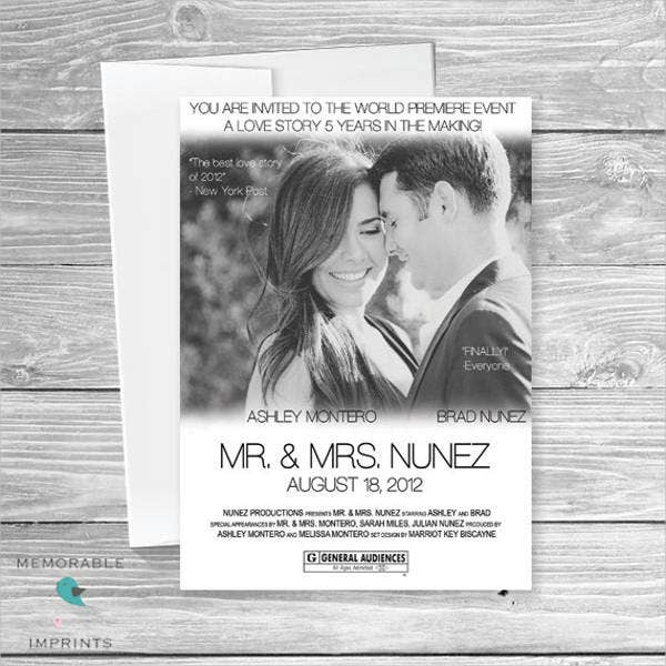 Wedding Movie Poster Template