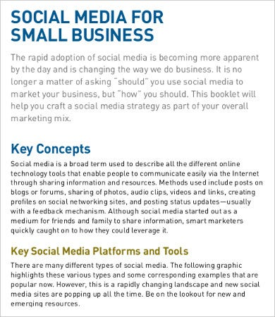 social media business proposal template