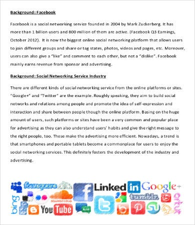 social media market research proposal template