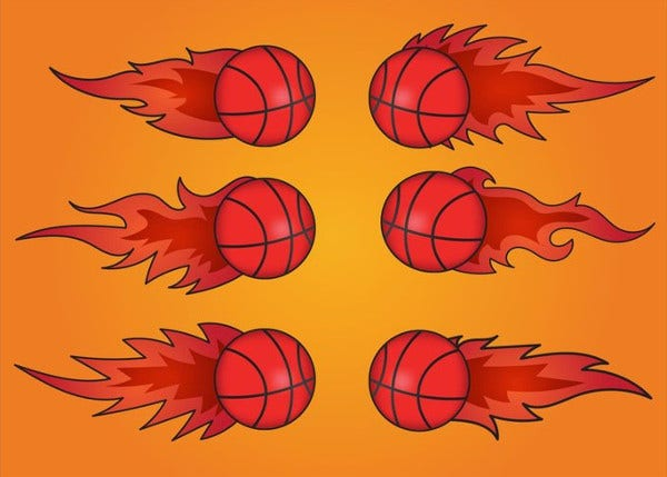 flaming basketball logo
