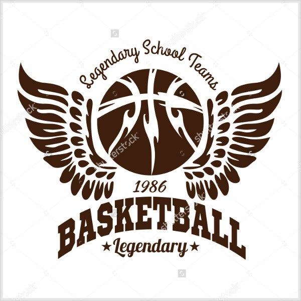 basketball wings logo