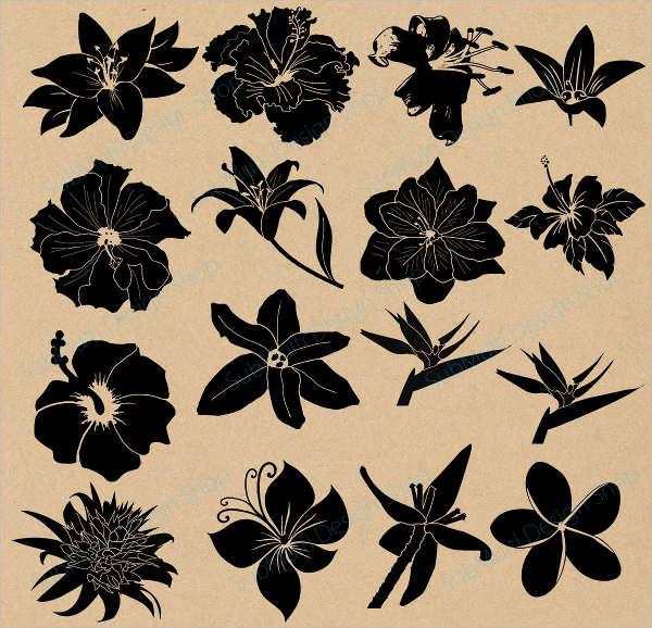 hibiscus-flower-silhouette