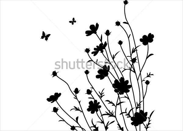 Vector Flower Silhouette