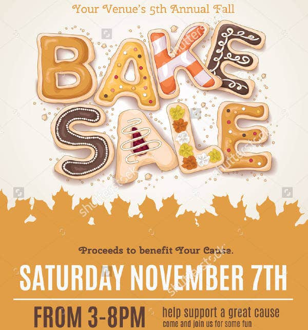Fall Bake Sale Flyer