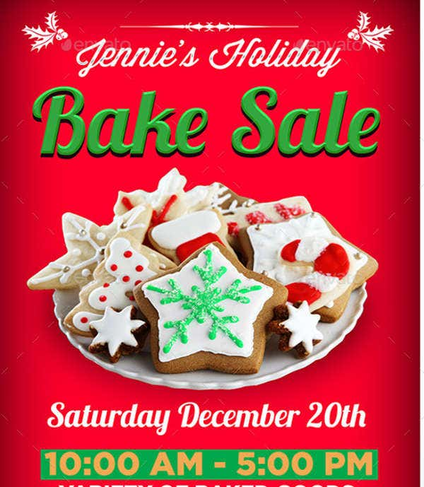 9 sample bake sale flyers free psd eps ai vector format