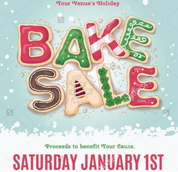 Vintage Bake Sale Flyer