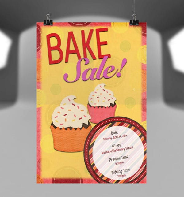 Bake Sale Flyer for School