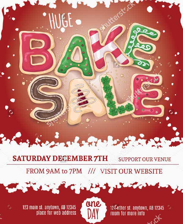 14 sample bake sale flyer templates psd ai word free