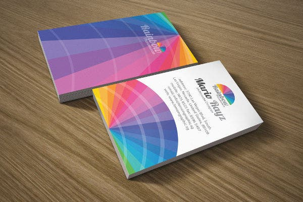 Rainbow Phenomenon Corporate Business Card