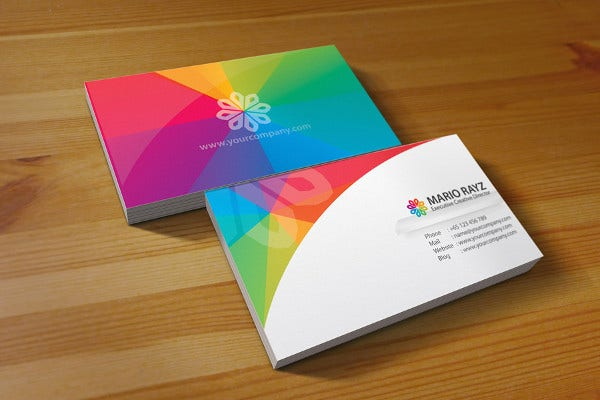 Rainbow Petals Business Card