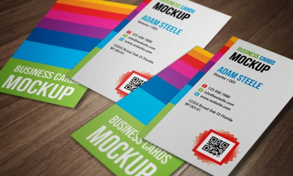 Free Vertical Business Cards PSD