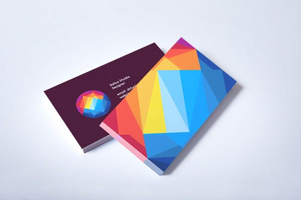 Free Colorful Business Card Presentation