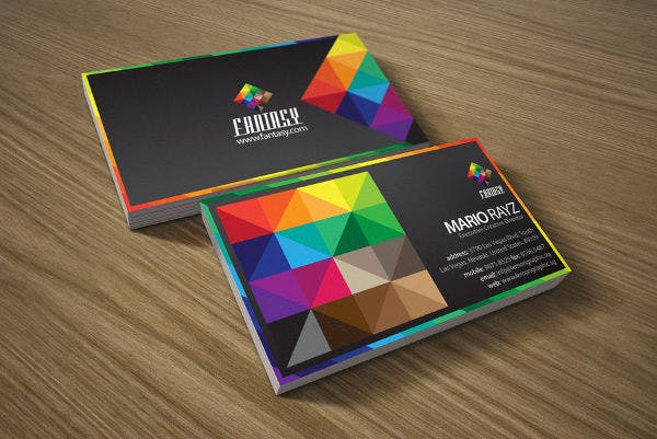 19 examples of colorful business cards free premium templates