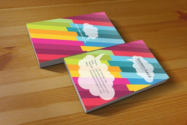 Fancy Rainbow Business Card