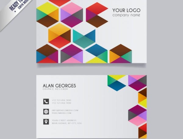 Colorful Business Card Free