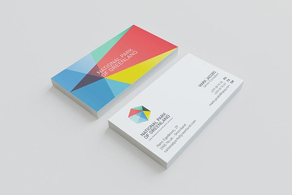Branding Colorful Business Card