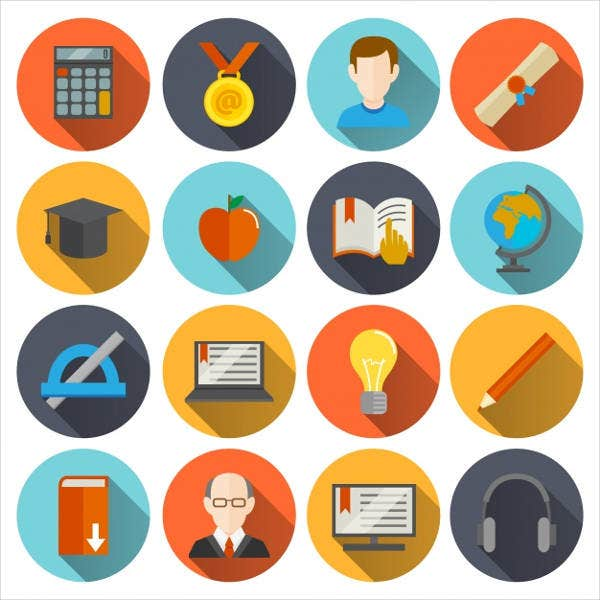 Free Flat Education Icons