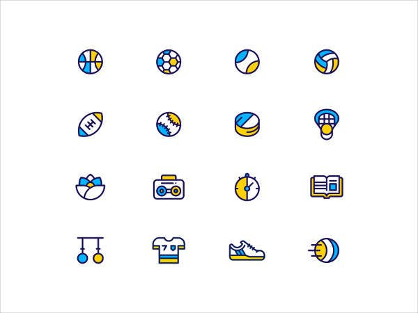 Free Flat Fitness Icons