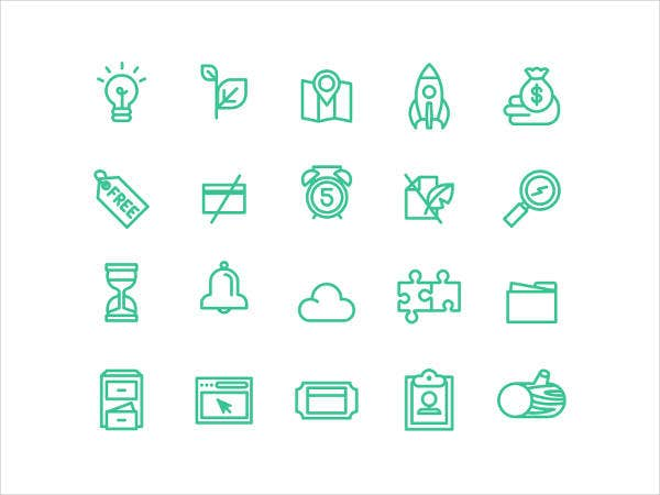 Free Flat Line Icons