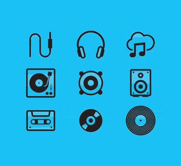 Free Flat Music Icons