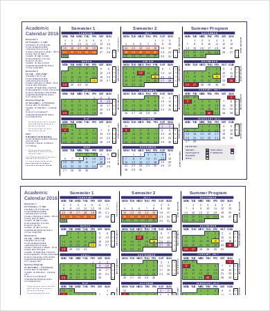 Printable Blank Academic Calendar