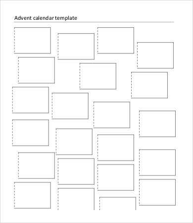 Printable Blank Advent Calendar