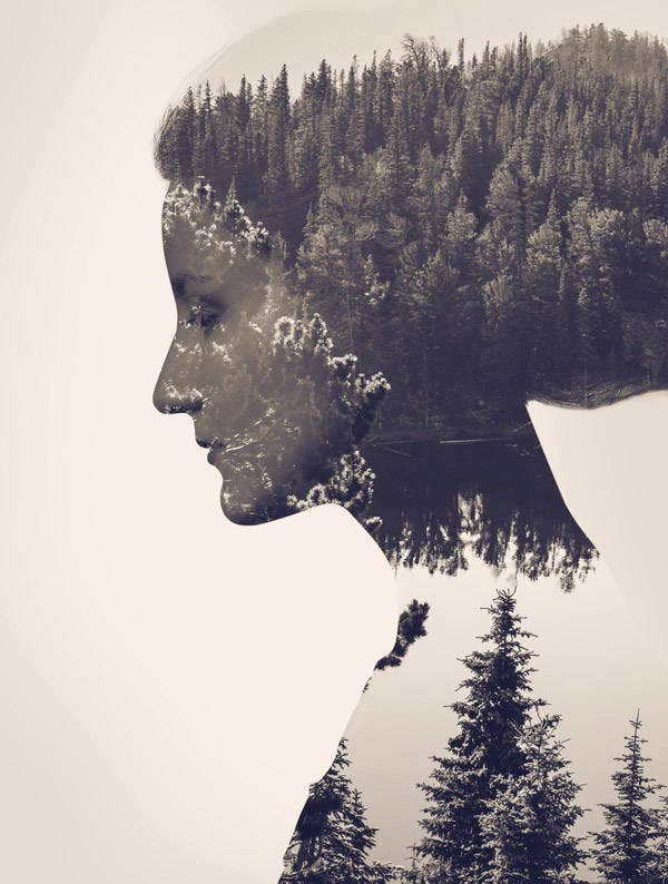 Double Exposure Photoshop Poster