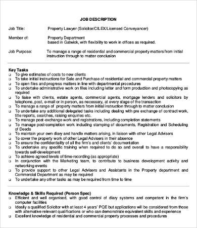 intellectual property lawyer job description