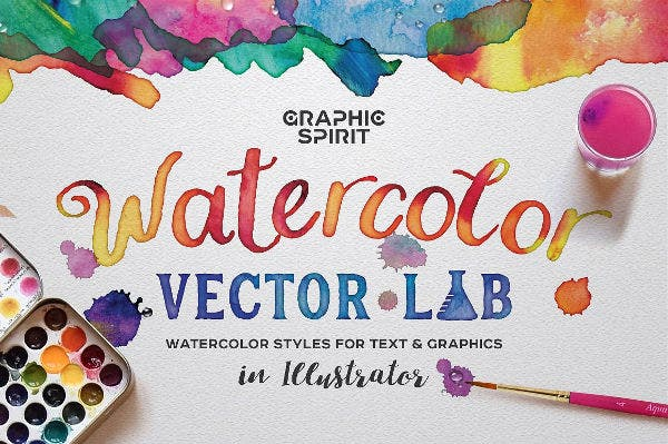 Watercolor Vector Styles Illustrator
