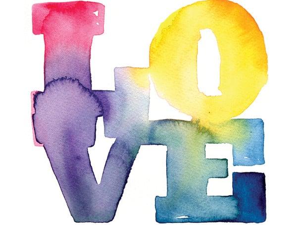 watercolor typography illustration