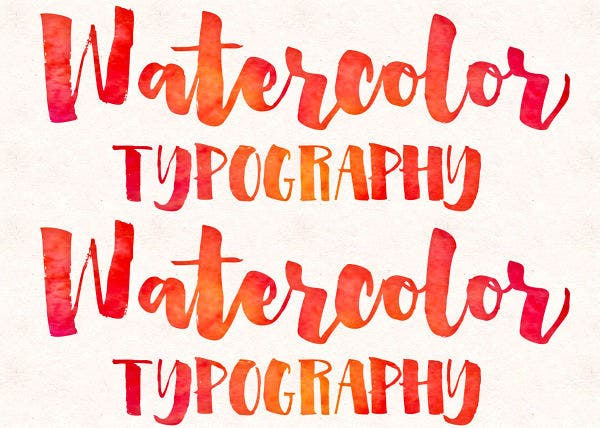 Watercolor Typography Design