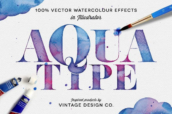 Vector Watercolor Effect