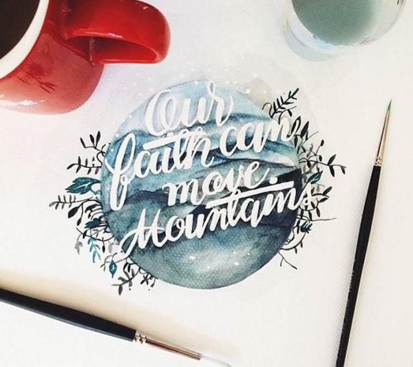 graphic designer watercolor typography