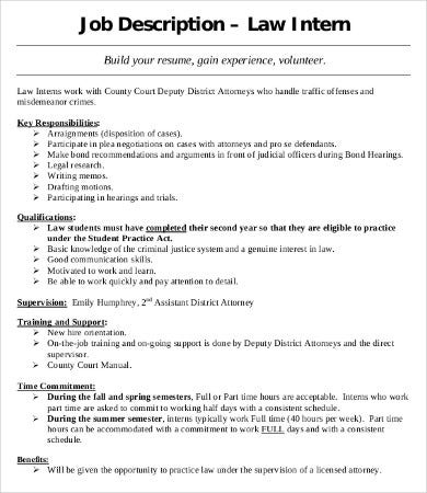 Intern Job Description Entry Level Assistant Recruiter Or Intern