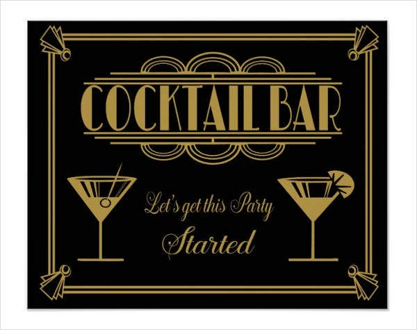 Art Deco Cocktail Poster