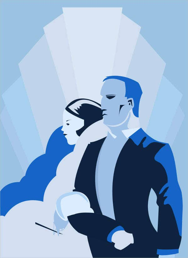 Art Deco Wedding Poster