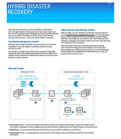 hybrid disaster recovery plan example