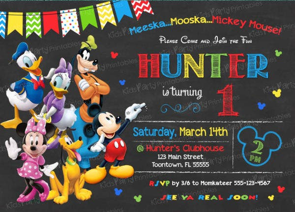 Captivating Mickey Mouse Clubhouse Invitation