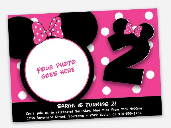 7  mickey mouse invitation designs  u0026 templates