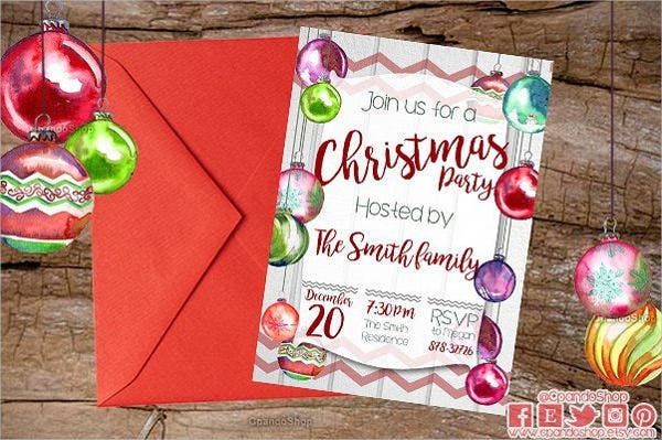 Christmas Dinner Invitation Template