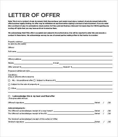 8+ Sample Offer Letters - Free Sample, Example, Format | Free