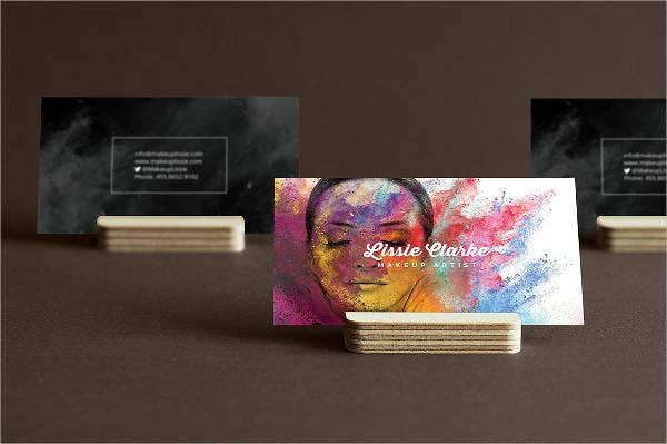 beauty artist business card