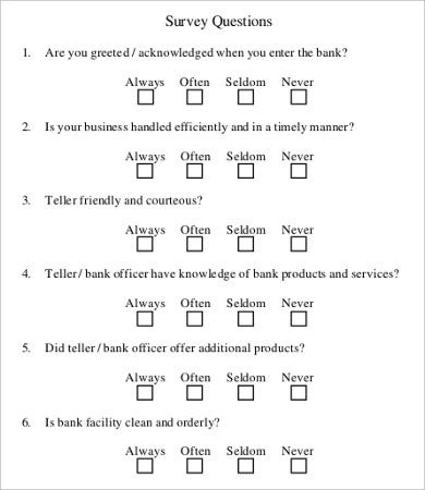 9+ Sample Survey Questionnaires - Free Sample, Example Format ...