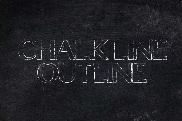 chalkline-outline-font