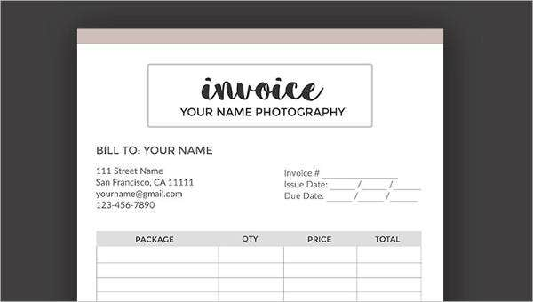 sample blank invoice templates