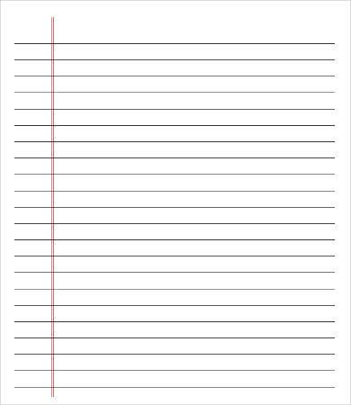 Colored College Ruled Paper  Lined Page Template