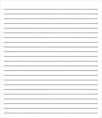 College Ruled Paper Template   Free Pdf Documents Download