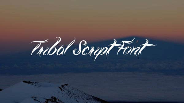 tribal script font