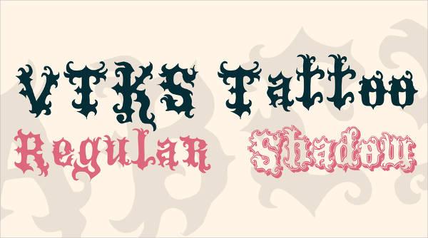 vtks tattoo font family