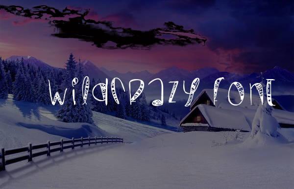 wildcrazy font